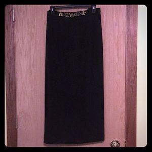 Dresses & Skirts - Plus Size Cute Black Pencil Maxi Skirt